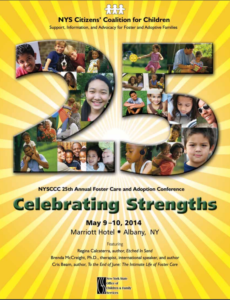 27th Annual Foster Care and Adoption Conference  Thursday, May 5 – Saturday, May 7, 2016 • Albany Marriott
