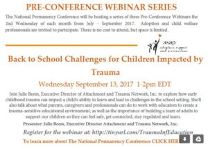 Back to School Challenges for Children Impacted by Trauma