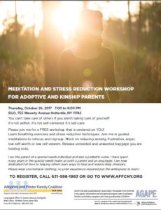 Meditation and Stress Reduction Workshop for Adoptive and Kinship Parents