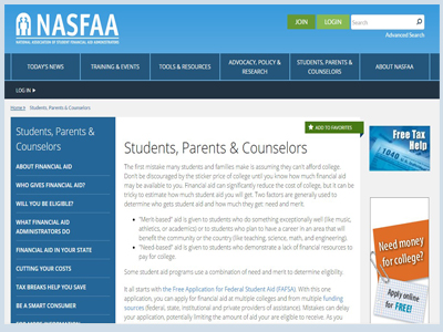 NASFAA The National Association of Student Financial Aid