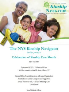 Kinship Care Month Save the Date 2017