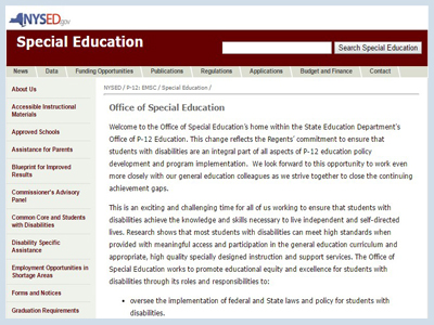 NYS office of special education