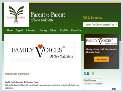 Parent to Parent New York Health Care Information and Education Center