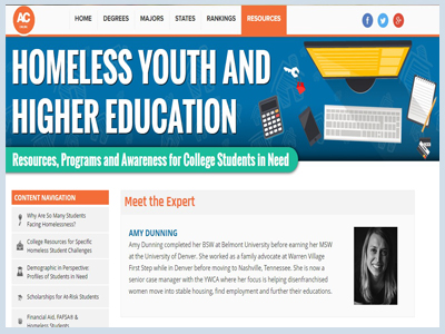 HOMELESS YOUTH AND HIGHER EDUCATION