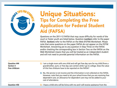 Tips for Completing the Free FAFSA