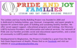 pride and joy families LGBTQ parent support