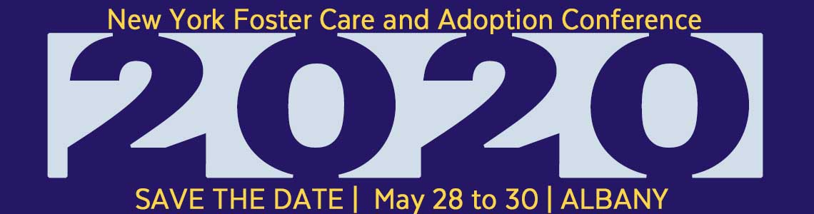 2020 NY Adoption and foster care conference save the date header