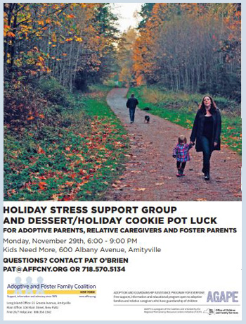 Holiday Stress Support Group and Dessert/Holiday Cookie Pot Luck