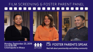 Foster Parent Speak Film Screening ITHACA
