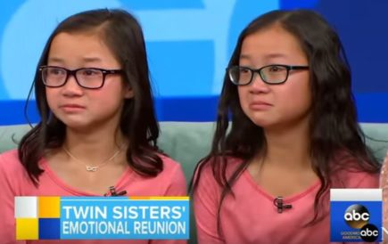 GMA twin sister separated by adoption live reunion