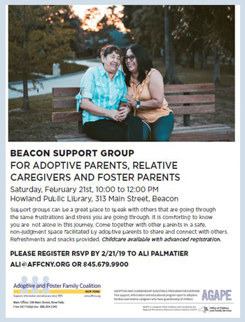 Adoptive parents support group beacon new york feb 2019