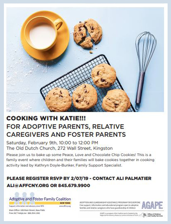 Please join us to bake up some Peace, Love and Chocolate Chip Cookies! For Adoptees, Youth Raised by Relatives and those in Foster Care - and their Parents