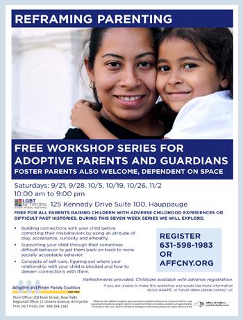 Reframing Parenting Training: Hauppauge Fall Series