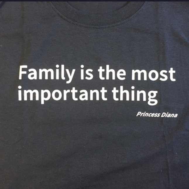 Small Family Is The Most Important Thing T Shirt Navy Affcny