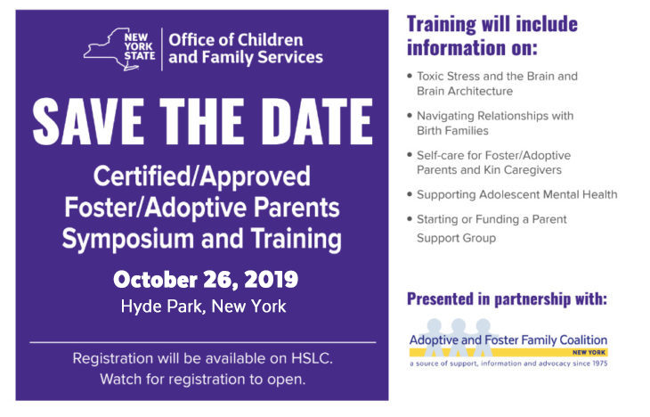 OCFS Symposium and Training for Adoptive and Foster Parents in DUTCHESS EVENT