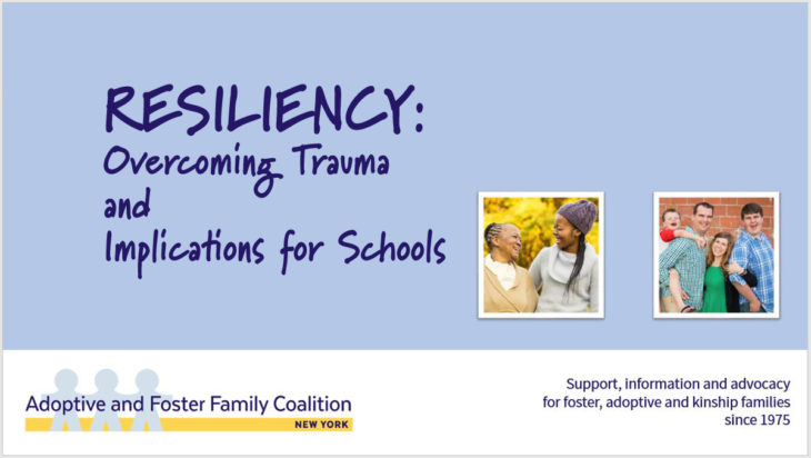 RESILIENCY: Overcoming Trauma and Implications for Schools