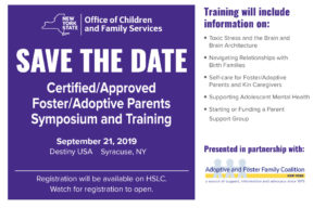 Symposium and Training for Adoptive and Foster Parents oct 19