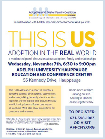 This Is Us: Adoption In The Real World A moderated panel discussion about adoption, family and relationships