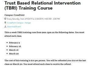 Trust Based Relational Intervention (TBRI) Training Cours