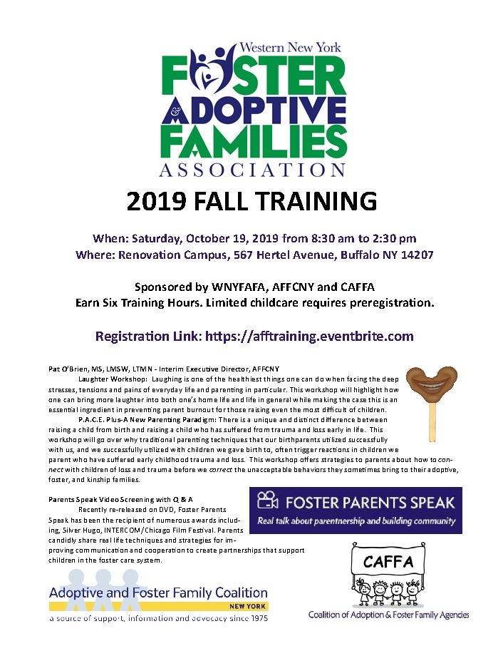 Fall Foster and adoptive parent training