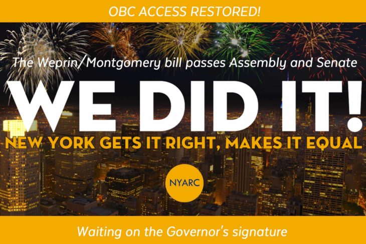 OBC Access restored in NYS