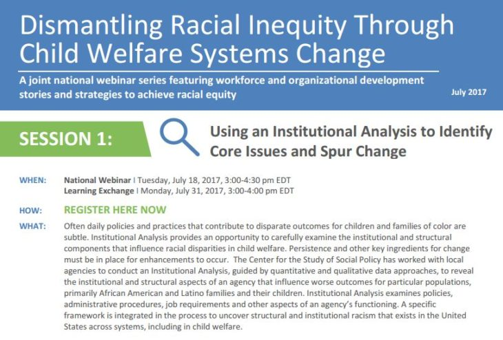 Dismantling Racial Inequity: Using an Institutional Analysis to Identify Core Issues and Spur Change