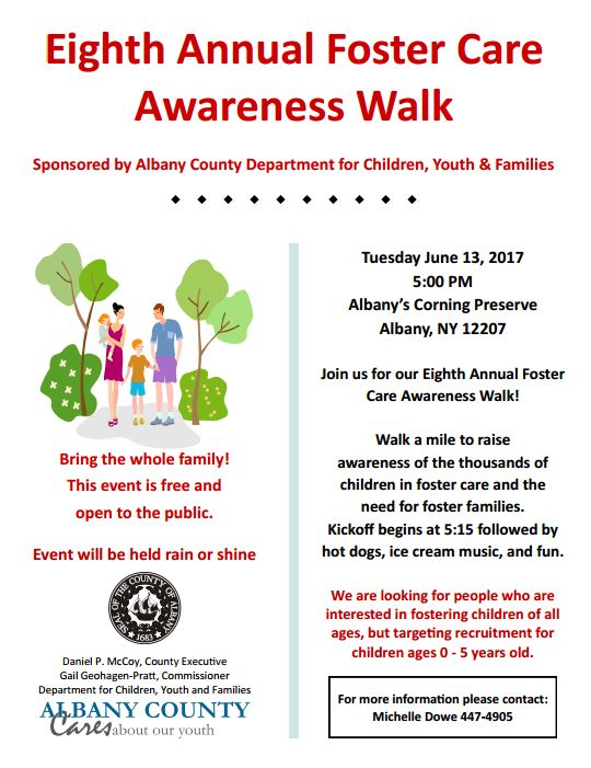 Eighth Annual Foster Care Awareness Walk – AFFCNY