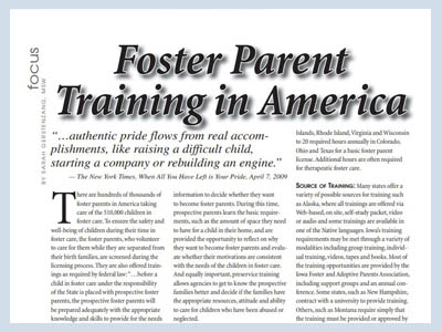 Foster Parent in America BY SARAH GERSTENZANG, MSW
