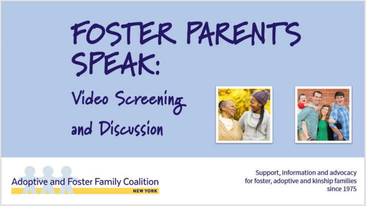 FOSTER PARENTS SPEAK: Video Screening and Discussion