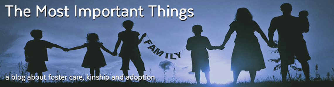 A blog about foster care, kinship and adoption
