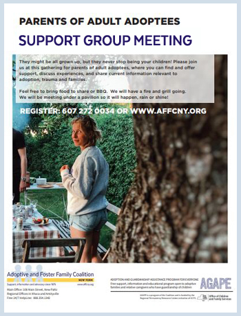 parents of adult adoptees support group meeting ithaca
