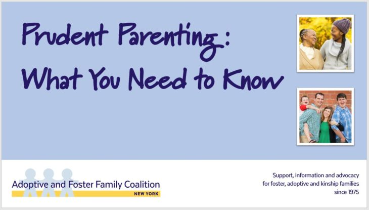 Reasonable and Prudent Parenting Standard of the federal Preventing Sex Trafficking and Strengthening Families Act