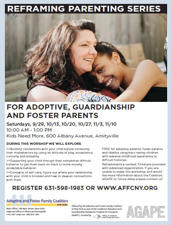 FREE workshop series for adoptive and guardianship parents raising children with adverse childhood experiences or difficult past histories.