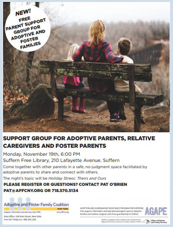 Adoptive parent and Foster and Relative Caregiver Support Group; Rockland