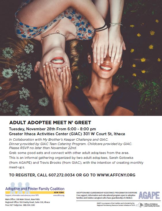 tompkins county adult adoptee support group meeting